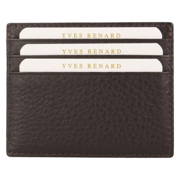 Yves Renard kaarthouder PC 232 brown achterzijde