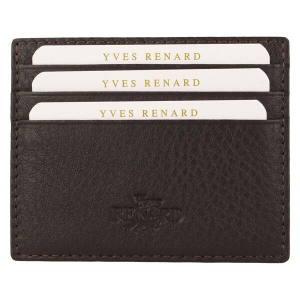 Yves Renard kaarthouder PC 232 brown voorzijde