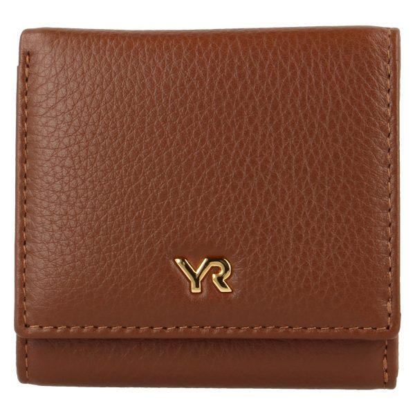 Yves Renard damesportemonnee PM 29808 cognac voorzijde