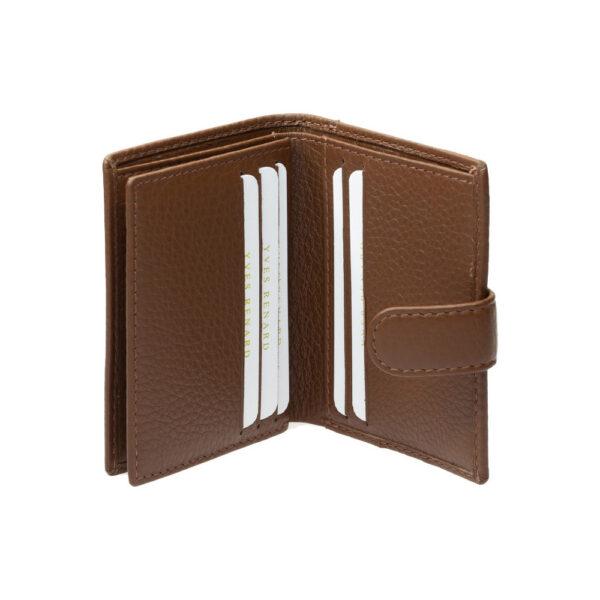 Yves Renard kaarthouder PC 2331 cognac binnenzijde 2