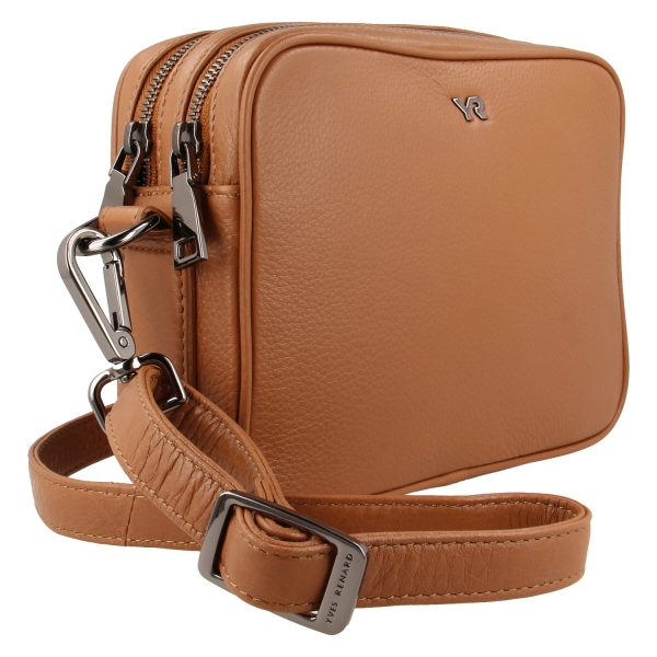 Yves Renard camerabag YR 60100 camel schuine zijde