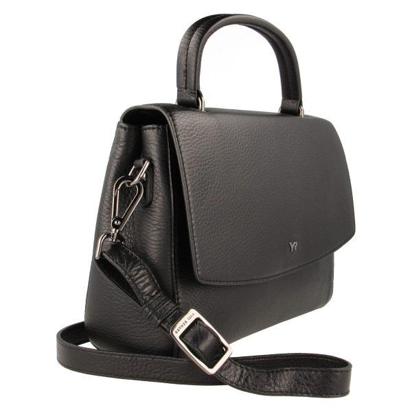 Yves Renard handtas YR 60820 black schuine zijde