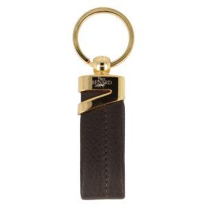 Yves Renard sleutelhanger YR 2329 brown voorzijde